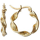 Target Yellow Twist Hoop Gold Plated Earring