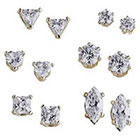 Target Pair CZ Stud Earrings Set-Pierced