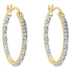 Diamond 1/4 CT. T.W. Hoop Earrings in Gold over Sterling Silver (IJ-I2-I3)
