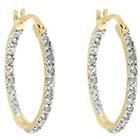 Diamond 1/4 CT. T.W. Hoop Earrings in Gold over Sterling Silver (IJ-I2-I3)