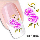 Amazon Dalin 3D Nail Art Tips Stickers False Flower Nail Design Manicure Decals Nail Art Water Nail Art Decal / Tattoo / Sticker XF1034