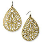 Target Disc Earrings with Cutouts - Gold