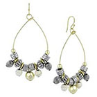 Target Wire Teardrop Dangle Earrings with Beads - Multicolor
