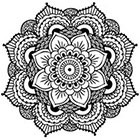 Amazon.com Mandala Temporary Tattoo (Set of 2)