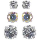 Target Fashion Set Button Earring - Silver