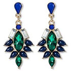 Target Post-top Statement Cluster Earrings - Gold/Blue/Green