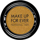 Make Up For Ever Artist Shadow Eyeshadow and powder blush in ME406 Golden (Metallic) eyeshadow