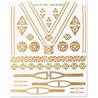 Lulu DK M'O Exclusive DK x Noor Fares Gold Tattoos in Gold