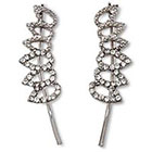 Natasha Accessories Imitation Crystal Ear Crawler - Rhodium (1