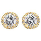 Journee Collection 2 1/4 CT. T.W. Round Cut CZ Basket Set Stud Earrings in Brass - Gold