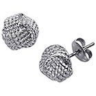 Target Designer-Inspired Love Knot Earrings - Silver