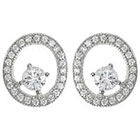 Target 1/3 CT. T.W. Tressa Round Cut Cubic Zirconia Pave Set Stud Earrings in Sterling Silver - Silver