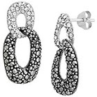 Target Marcasite Crystal Earring - Silver