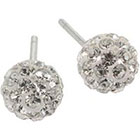 JCPenney STERLING SILVER EARRINGS Sterling Silver Crystal Ball Stud Earrings