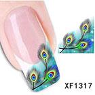 Amazon 3D Nail Art Tips Stickers False Nail Design Manicure Decals Nail Art Water Nail Art Decal / Tattoo / Sticker