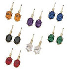 Target 7 Pair Color Crystal Latchback Earring Set
