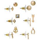 Target Multi-Shape Stud Earrings Set of 6 - Gold