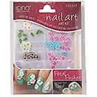 Cina Nail Creations Nail Art Jewelry Decals Ice Sparkles Rhinestones in Petal Pusher Fimo Shapes