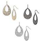 Target Filigree Teardrop Hoop Earring - Silver/Gold