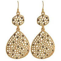 Target Drop Earrings - Gold and Gray