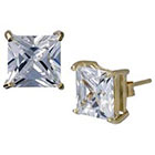 Target Gold Plated Square Cubic Zirconia Stud Earring - 8mm