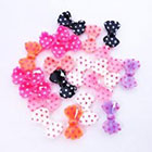 Amazon 20 pcs Multiple Color 3D Bow Tie Beads Slices Nail Art Tips DIY Decorations 14mm x 8mm