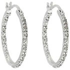 Diamond 1/4 CT. T.W. Hoop Earrings in Sterling Silver (IJ-I2-I3)