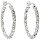 Diamond 1/4 CT. T.W. Hoop Earrings in Sterling Silver (IJ-I2-I3)