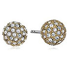 Fossil Pave Ball Gold Stud Earrings