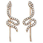 Natasha Accessories Imitation Ear Crawler with Crystal- Gold (1