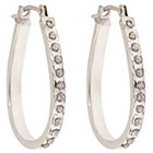 Diamond Pear Shaped Sterling Silver Earrings with Accents - White