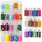Amazon High Quality Professional Nail Art Set of Glitters, Caviar / Beads / Mini Pearls And Sparkles Decorations By VAGA