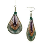 Target Dangle Teardrop Earrings with Thread Wrap - Multicolor