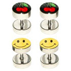 Supreme Jewelry Fake Plug Ear Ring in Multicolor