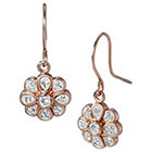 Target Dangle Earrings with Crystals - Rose