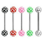 Supreme Jewelry Barbell Tongue Ring in Multicolor