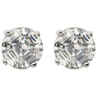 Target 1 3/5 CT. T.W. Tressa Collection Round Sterling Silver Cut CZ Prong Set Stud Earrings - Clear (6MM)