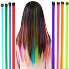 Amazon Fantastic High Quality Styling Hairdressers Set Kit With 12pcs Party Fake Synthetic Hair Pieces / Long Clip On Extensions With Iron Pins And In 12 Different Colors By VAGA