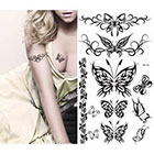 Amazon.com Supperb Temporary Tattoos - Black Tribal Butterflies