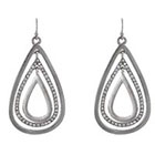 Target Teardrop Earrings - Silver