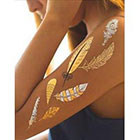 Amazon.com Zip Flash Tattoos - All Feathers Set -Metallic Temporary Tattoos - Premium Sheets of Gold, Silver, and Black Zip Flash Tattoo for Women & Girls - Waterproof