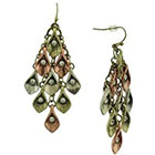 Target Antique Finish Chandelier Earrings with Glass Crystals - Multicolor