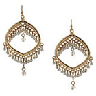 Target Dangle Earrings - Gold/White