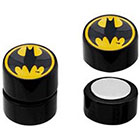 DC Comics DC Comics Batman Logo Acrylic and Stainless Steel Magnetic Earrings - Black