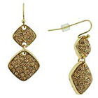 Target Pink Women's Dangle Earrings with Stones