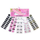 Pueen PUEEN 3D Jeweled Nail Wraps Collection JOIN OUR PARTY - 5 Pack (18 Strips Each) Nail Wraps / Nail Strips / Nail Foils / Nail Stickers / Nail Decals / Nail Patches in New High Fashion Designs-BH000195