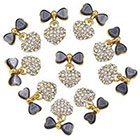 Amazon 10x Alloy 3D Crystal Rhinestones Bow Tie Heart Nail Art Glitters DIY Decoration Gift (Grey)