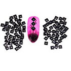 Amazon Amazing Value Set of 300 Black 3mm Square Metal Studs Spikes 3D Nail Art Decorations By VAGA