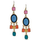 Target Drop Earring with Stones - Multicolor