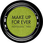 Make Up For Ever Artist Shadow Eyeshadow and powder blush in I340 Lime Green (Iridescent) eyeshadow